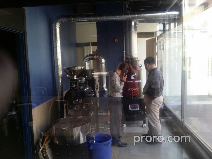 BEANMASTER咖啡烘焙机 安装 后燃机 案例 - Girida Coofee咖啡店