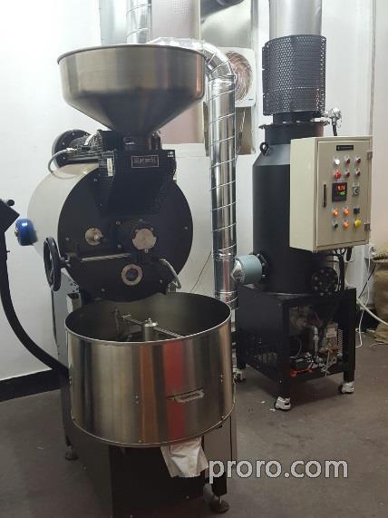 BUHLER 布勒咖啡烘焙机 安装 除烟消味 后燃机 安装案例 - YCSON 咖啡烘焙工厂。