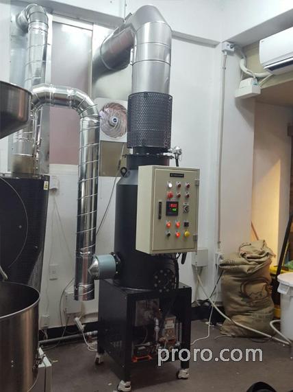 BUHLER 布勒咖啡烘焙机 安装 除烟消味 后燃机 安装案例 - YCSON 咖啡烘焙工厂
