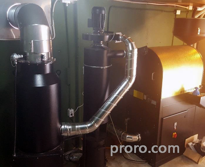 Cinestar Coffee 咖啡店 安装 咖啡烘焙烟处理 后燃机(15公斤) 安装案例